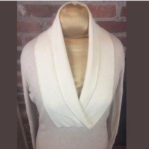 Luxury Cashmere Wool Blend Shawl Neck Sweater